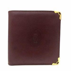 Must De Cartier Bordeaux Leather Bifold Wallet